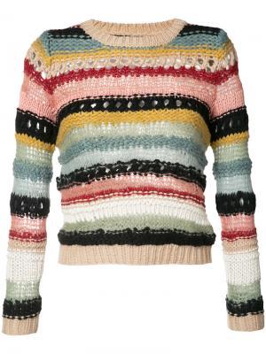 Полосатый свитер Alice+Olivia. Цвет: многоцветный