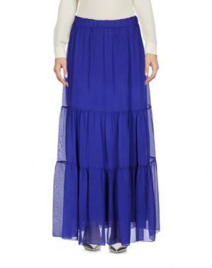 Длинная юбка PAOLO CASALINI. Цвет: темно-синий