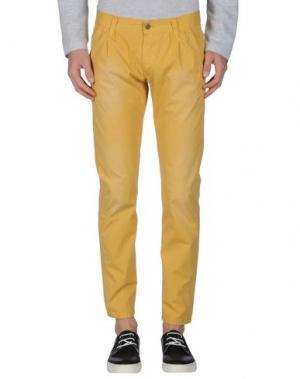Повседневные брюки MINIMAL. Цвет: желтый