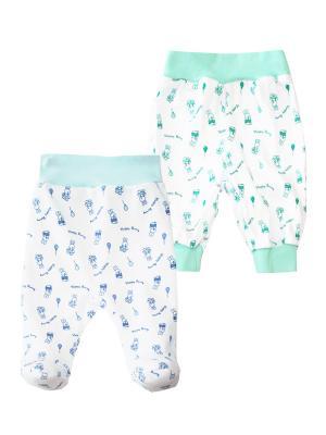 Комплект одежды: ползунки, штанишки Коллекция Happy Bunny КОТМАРКОТ. Цвет: зеленый