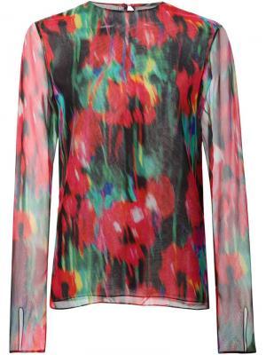 Блузка с цветочным принтом Jason Wu. Цвет: многоцветный