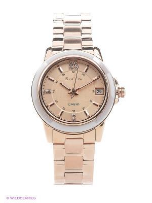 Часы Sheen SHE-4512PG-9A CASIO. Цвет: золотистый