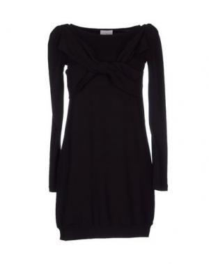 Короткое платье PINK BOW. Цвет: черный