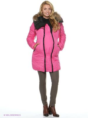 Куртка EUROMAMA. Цвет: розовый