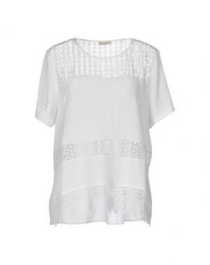 Блузка CASHMERE COMPANY. Цвет: белый
