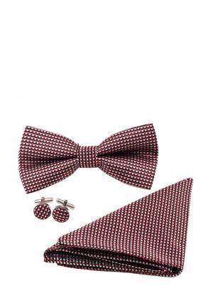 Комплект бабочка, запонки и платок Churchill accessories. Цвет: разноцветный