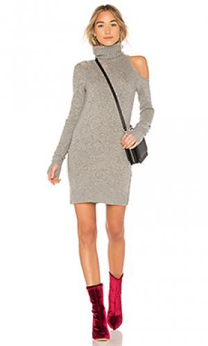 Платье свитер Pam & Gela. Цвет: серый
