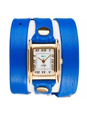 Часы La Mer Collections Simple Zepher Blue. Цвет: синий