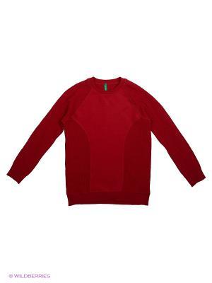 Свитшот United Colors of Benetton. Цвет: темно-красный