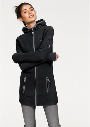 Флисовая куртка Kangaroos. Цвет: цвет белой шерсти, черный, ярко-розовый