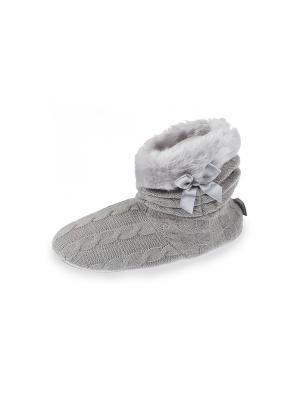 Тапочки Isotoner. Цвет: светло-серый
