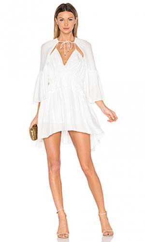 Платье dover Acler. Цвет: белый