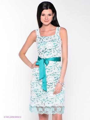 Платье Remix. Цвет: белый, зеленый