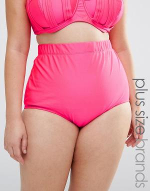 Monif C Розовые плавки бикини с завышенной талией. Цвет: оранжевый