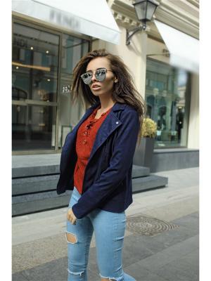 Куртка-косуха RADOST. Цвет: темно-синий