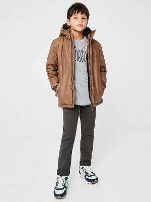 Куртка - ALLEN Mango kids. Цвет: коричневый
