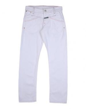 Джинсовые брюки LE JEAN DE MARITHÉ + FRANÇOIS GIRBAUD. Цвет: белый