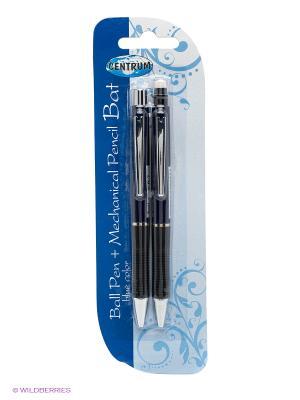 Канцелярский набор: ручка и механический карандаш Centrum. Цвет: синий