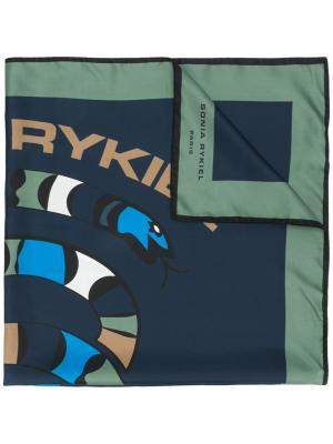 Платок с логотипом Sonia By Rykiel. Цвет: синий