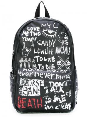 Рюкзак с графическим принтом Haculla. Цвет: чёрный