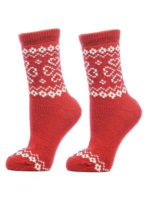 Носки женские, комплект 2 шт. Skinija. Цвет: красный