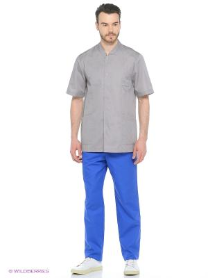 Рубашка медицинская Med Fashion Lab. Цвет: серый