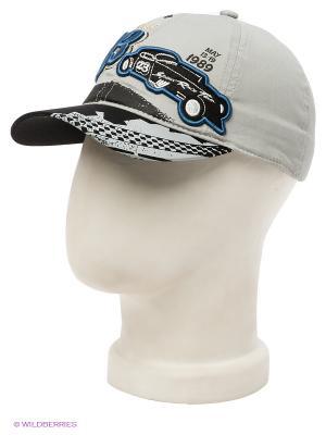 Бейсболка Maxval. Цвет: серый, черный, синий