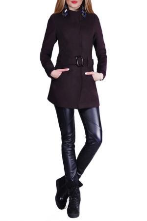 Пальто FRANCESCA LUCINI. Цвет: коричневый