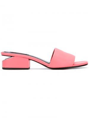 Мюли Lou Alexander Wang. Цвет: розовый и фиолетовый
