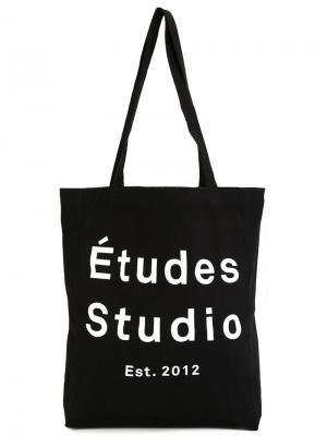Сумка с логотипом Études. Цвет: чёрный