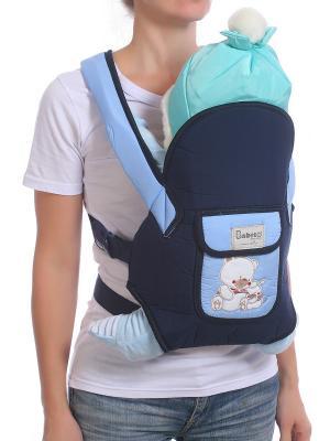 Слинг-рюкзак M-BABY. Цвет: темно-синий, голубой