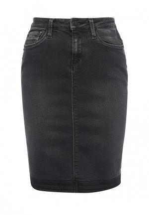 Юбка джинсовая Calvin Klein Jeans. Цвет: черный