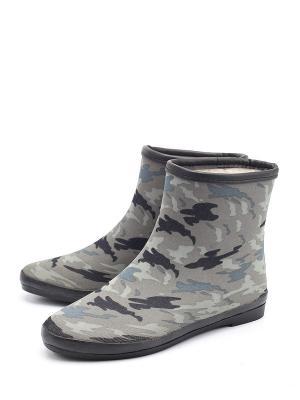 Резиновые сапоги KEDDO. Цвет: серый