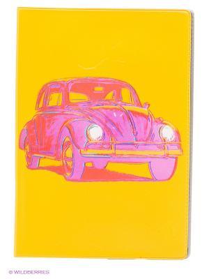 Обложка для паспорта Автомобиль Mitya Veselkov. Цвет: желтый, фуксия