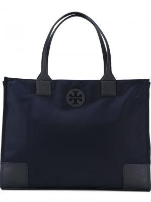 Большая сумка-тоут Tory Burch. Цвет: синий