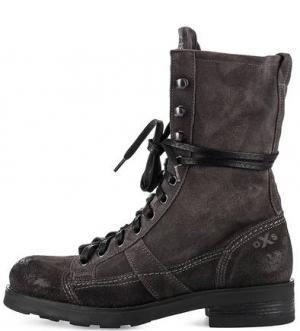Серые замшевые ботинки O.X.S.. Цвет: серый