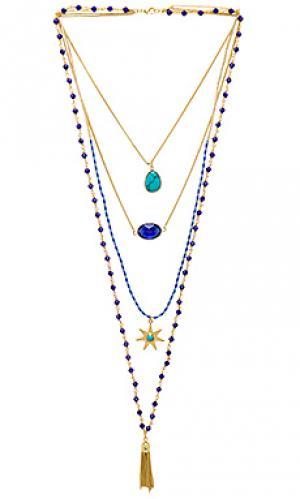 Ожерелье mumbai HiPANEMA. Цвет: металлический золотой