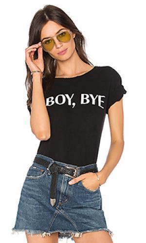 Футболка boy bye Private Party. Цвет: черный