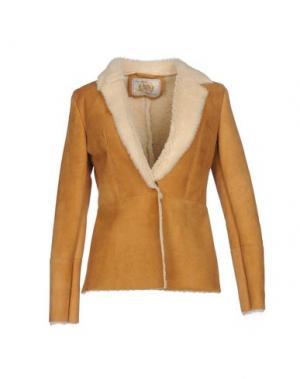 Куртка VINTAGE DE LUXE. Цвет: верблюжий