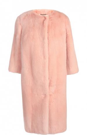 Шуба Dolce & Gabbana. Цвет: розовый