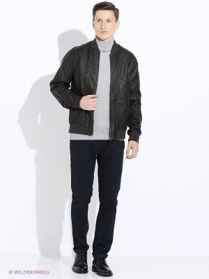 Куртка Oodji. Цвет: темно-коричневый, коричневый