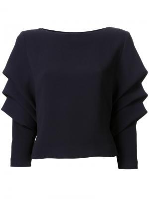 Драпированная блузка Bianca Spender. Цвет: синий