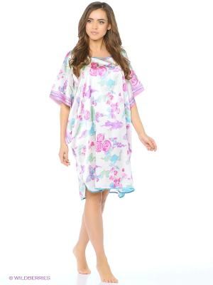Платье - туника Del Fiore. Цвет: белый, сиреневый