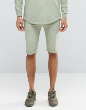 SikSilk Свободные шорты. Цвет: зеленый