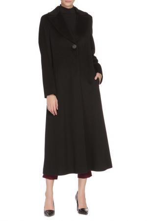 Полуприлегающее пальто с застежкой на пуговицы Cinzia Rocca. Цвет: черный