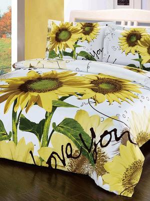 Комплект постельного белья. Soft Line. Цвет: желтый