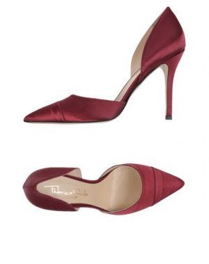 Туфли FEDERICA STELLA. Цвет: красно-коричневый
