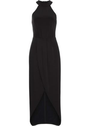 Длинное платье (черный) bonprix. Цвет: черный