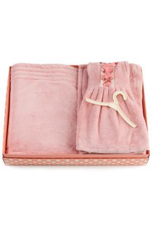 Комплект, 4 пр. HOME LUX. Цвет: розовый