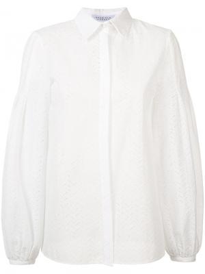 Gathered cuffs shirt Gabriela Hearst. Цвет: белый